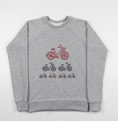 Велодвижение - Купить детские свитшоты с велосипедом в Москве, цена детских свитшотов с велосипедом с прикольными принтами - магазин дизайнерской одежды MaryJane