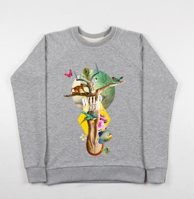 Wild surfer - Купить детские свитшоты с йогой в Москве, цена детских свитшотов с йогой  с прикольными принтами - магазин дизайнерской одежды MaryJane