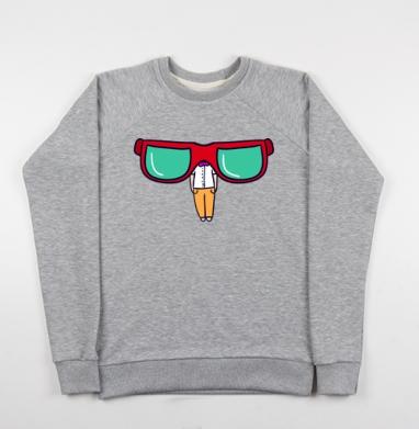 Хипстер и очки - Купить детские свитшоты модные в Москве, цена детских свитшотов модных  с прикольными принтами - магазин дизайнерской одежды MaryJane
