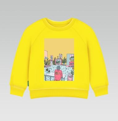 Азиатская закусочная - Cвитшот Детский желтый 240гр, тонкая, Новинки