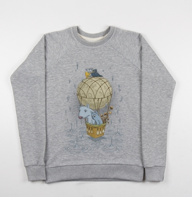 Magic journey - Купить детские свитшоты серые в Москве, цена детских свитшотов серых с прикольными принтами - магазин дизайнерской одежды MaryJane