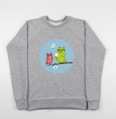 Ночной чай  - Купить детские свитшоты с птицами в Москве, цена детских свитшотов с птицами  с прикольными принтами - магазин дизайнерской одежды MaryJane