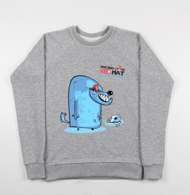 RED HAT - Купить детские свитшоты с волками в Москве, цена детских свитшотов с волками  с прикольными принтами - магазин дизайнерской одежды MaryJane