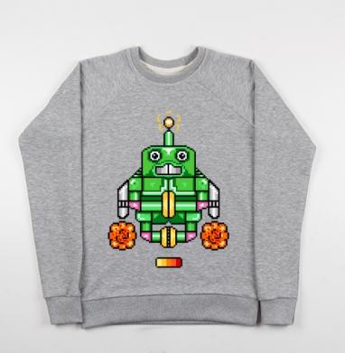 Робот-йог - Купить детские свитшоты с роботами в Москве, цена детских свитшотов с роботами с прикольными принтами - магазин дизайнерской одежды MaryJane