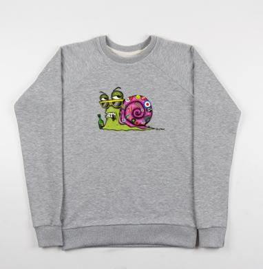 Snail Male - Купить детские свитшоты с насекомыми в Москве, цена детских свитшотов с насекомыми  с прикольными принтами - магазин дизайнерской одежды MaryJane