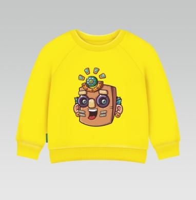 Тотемная маска, вектор, Cвитшот Детский желтый 240гр, тонкая