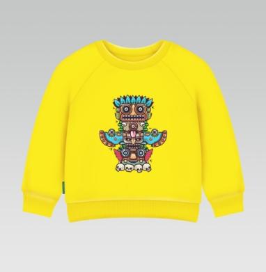 Cвитшот Детский желтый 240гр, тонкая - Тотемы