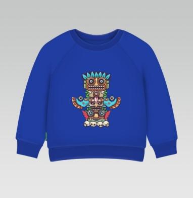 Cвитшот Детский Синий 320гр, стандарт - Тотемы