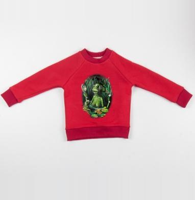 Кикиморочка - Cвитшот Детский красный 340гр, теплый, Популярные