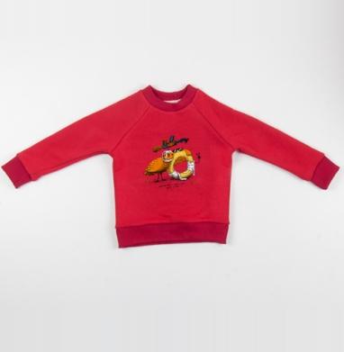 Тертый калач и стреляный воробей - Cвитшот Детский красный 340гр, теплый, Популярные