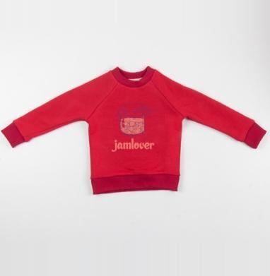 Cвитшот Детский красный 340гр, теплый - Jamlover