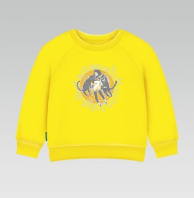 Street Cats, Cвитшот Детский желтый 240гр, тонкая