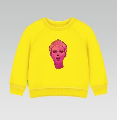 Прекрасная Диана, Cвитшот Детский желтый 240гр, тонкая