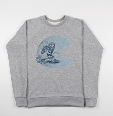 Бородатый серфер - Купить мужские свитшоты морские  в Москве, цена мужских свитшотов морских   с прикольными принтами - магазин дизайнерской одежды MaryJane