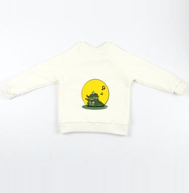 Cвитшот Детский Экрю 320гр, стандарт - КрокодиЛ-МиломаН