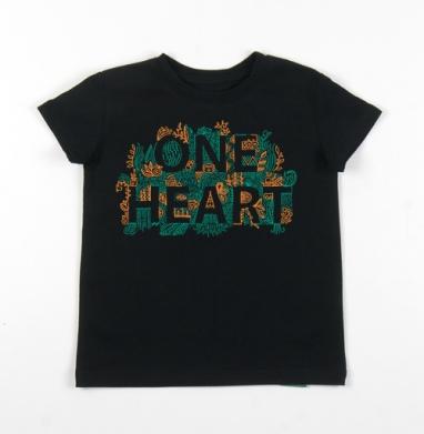 Детская футболка черная хлопок с лайкрой 140гр, чёрный - Интернет магазин футболок №1 в Москве