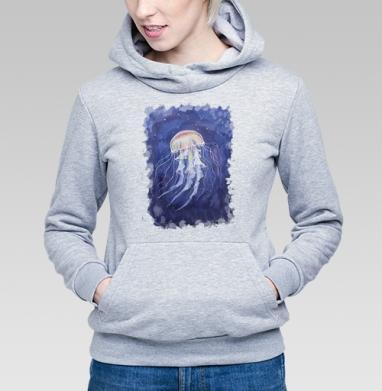 Медуза батик - Купить детские толстовки морские  в Москве, цена детских толстовок морских   с прикольными принтами - магазин дизайнерской одежды MaryJane