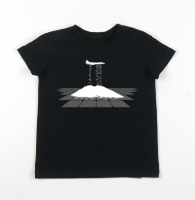 Детская футболка черная хлопок с лайкрой 140гр - Supersonic discharge seeding
