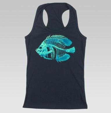 Борцовка женская темн.-синяя рибана 200гр - DeadFish