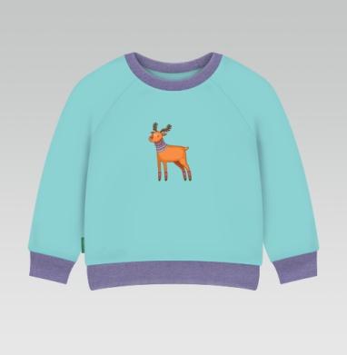 Cвитшот Детский ментол 340гр теплый - Dear Deer