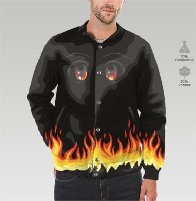 Бомбер мужской 3D - Огненная ночь