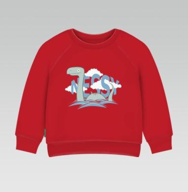 Cвитшот Детский ярко-красный 240гр, тонкий - Nessy