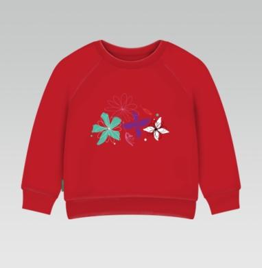 Cвитшот Детский ярко-красный 240гр, тонкий - В летнем воздухе