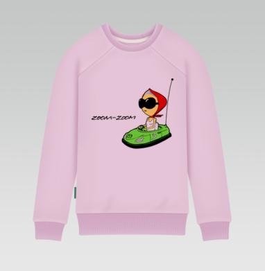 Cвитшот женский розовый удлиненный 340гр, теплый - mazda_girl