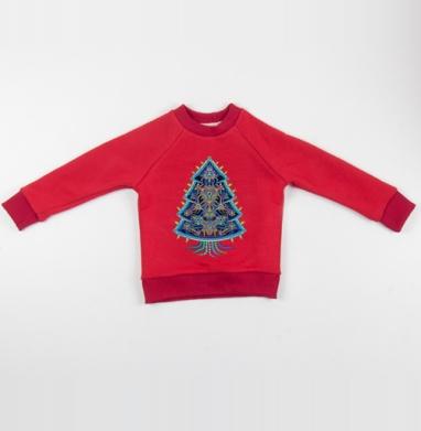 Cвитшот Детский красный 340гр, теплый - Психоёлка