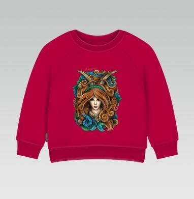 Cвитшот Детский темно-красный 340гр, теплый - Козерог
