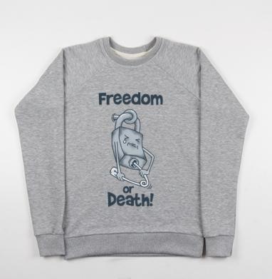 Freedom or death! - Купить мужские свитшоты свобода в Москве, цена мужских свитшотов свобода  с прикольными принтами - магазин дизайнерской одежды MaryJane