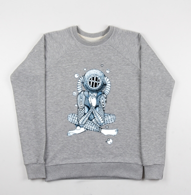 Глубина - Купить мужские свитшоты морские  в Москве, цена мужских свитшотов морских   с прикольными принтами - магазин дизайнерской одежды MaryJane