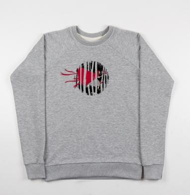 Red riding hoooood - Купить мужские свитшоты серые в Москве, цена мужских свитшотов серых с прикольными принтами - магазин дизайнерской одежды MaryJane