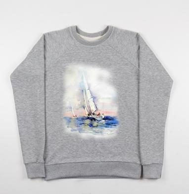 Свежий ветер - Купить мужские свитшоты морские  в Москве, цена мужских свитшотов морских   с прикольными принтами - магазин дизайнерской одежды MaryJane