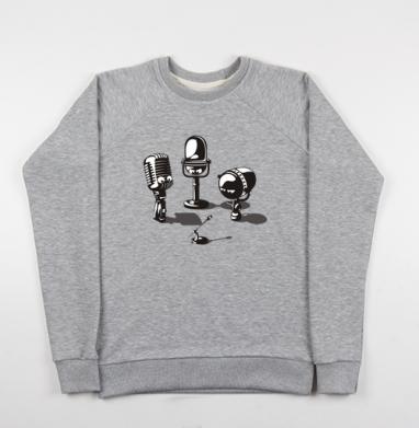 Microphones - Купить мужские свитшоты ретро в Москве, цена мужских свитшотов ретро  с прикольными принтами - магазин дизайнерской одежды MaryJane