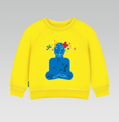 Cвитшот Детский желтый 240гр, тонкая - Позитивизация