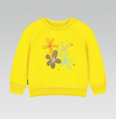 Cвитшот Детский желтый 240гр, тонкая - Прозрачный день