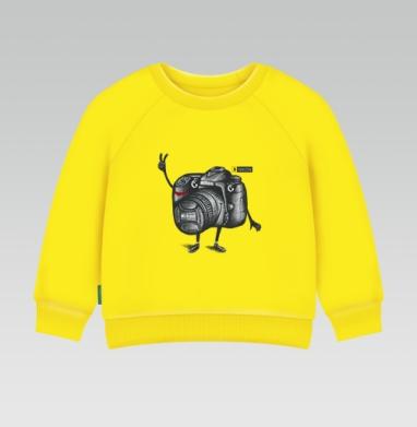 Cвитшот Детский желтый 240гр, тонкая - Я Nikon