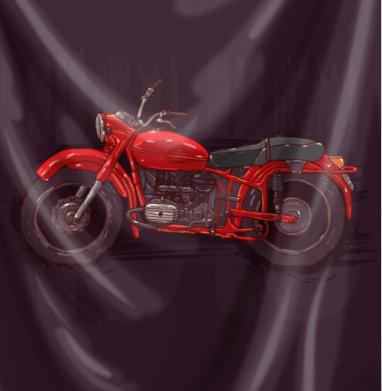 Красный мотоцикл - мотоцикл, Популярные