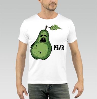 Бойся груши - Купить мужские футболки с фруктами в Москве, цена мужских футболок с фруктами  с прикольными принтами - магазин дизайнерской одежды MaryJane