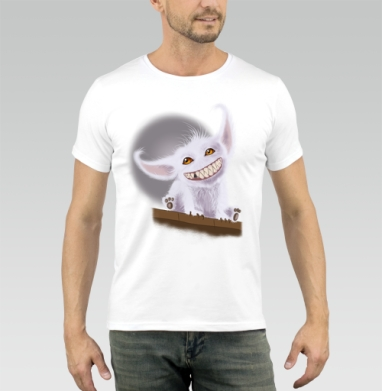 Милый зубастик - Купить мужские футболки милые в Москве, цена мужских футболок милых  с прикольными принтами - магазин дизайнерской одежды MaryJane