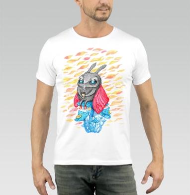 Осенний мотылек - Купить мужские футболки осень в Москве, цена мужских футболок осенних  с прикольными принтами - магазин дизайнерской одежды MaryJane
