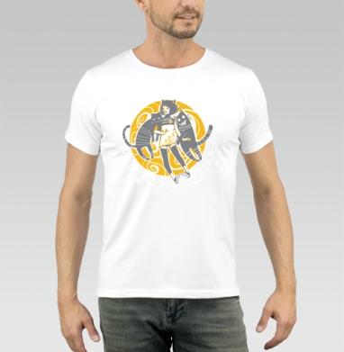 Street Cats, Футболка мужская белая 180гр