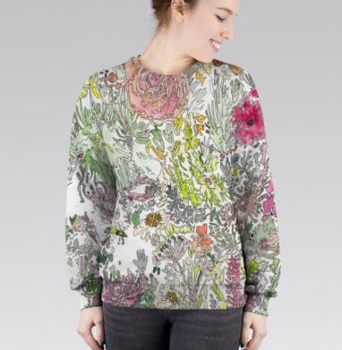Cвитшот женский 3D - Цветочная