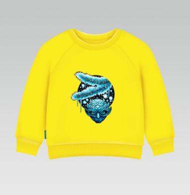 Зима здесь, Cвитшот Детский желтый 240гр, тонкая