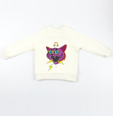 Cвитшот Детский Экрю 320гр, стандарт - Cat tequila mice killa
