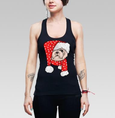 Санта пес - Майки-борцовки женские. Новое.