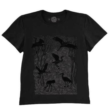 Черные журавли, Футболка мужская чёрная 200гр
