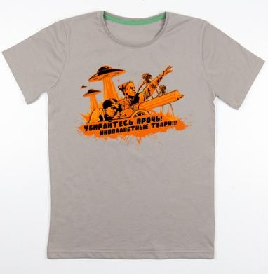 Чапаев против пришельцев , Футболка мужская св. коричневый 180гр