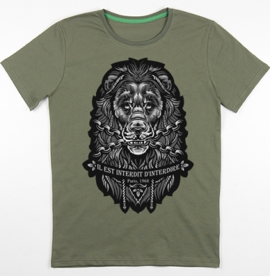 Футболка мужская хаки 180гр, хаки - Мужские футболки